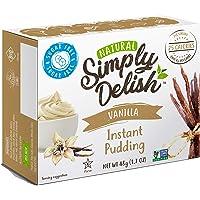 Simply Delish Natural Instant Vanilla Pudding - Sugar Free, Non GMO, Gluten Free, Fat Free, Vegan, Keto Friendly - 1.7 OZ (Pack of 1)