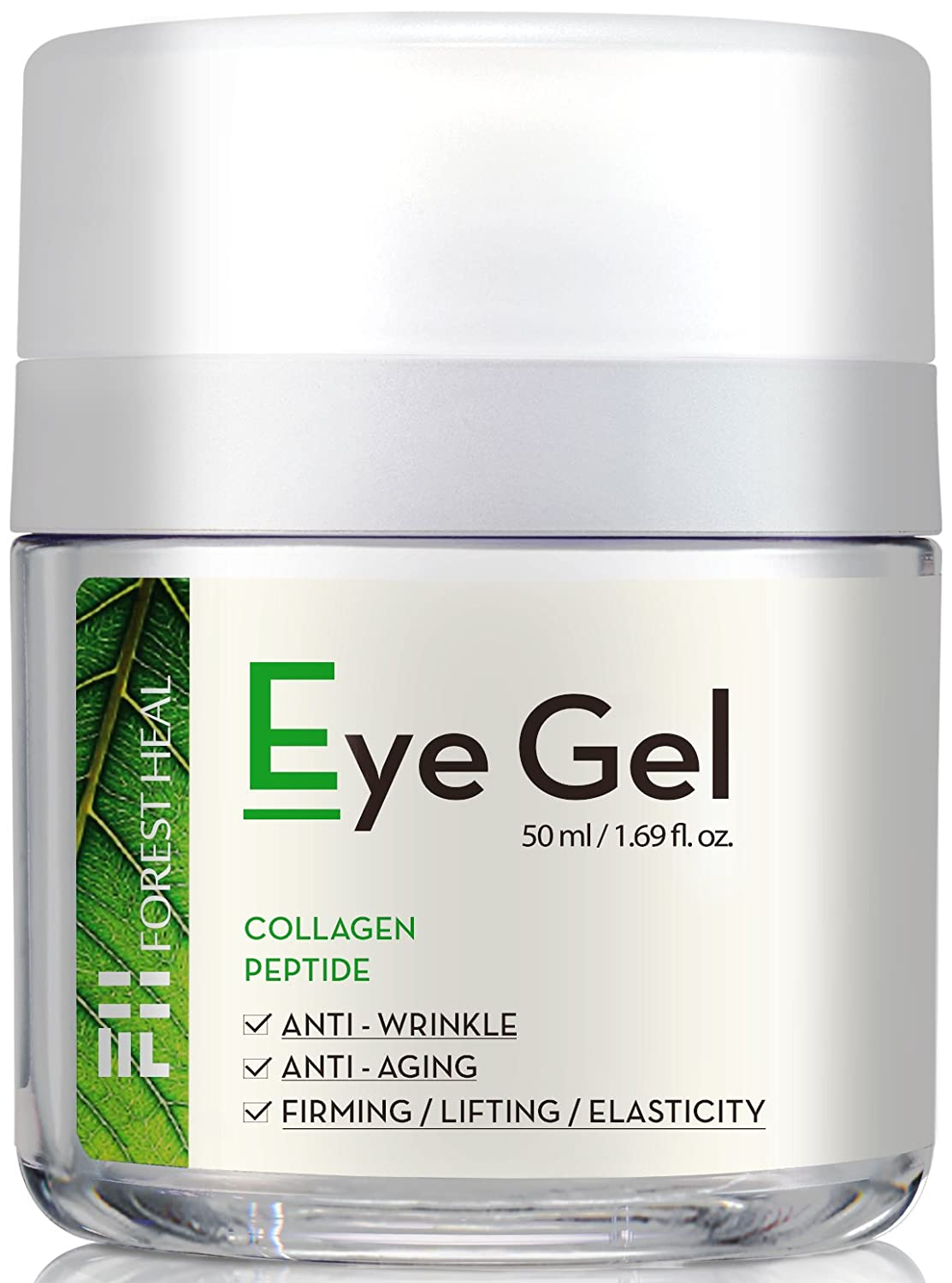 Natural Anti-Aging Eye Gel Cream with Collagen Peptides, Anti Wrinkle Moisturizer For Under and Around Eyes, Forest Heal