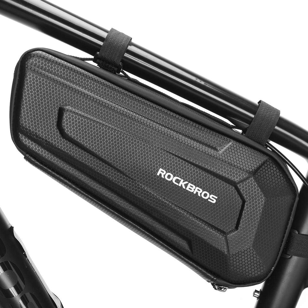 ROCKBROS Bike Frame Bag Bike Storage Triangle Bag Bicycle Under Top Tube Saddle Bag Water-Resistant EVA Cycling Bike Accessories Pouch for Mountain Road Bike