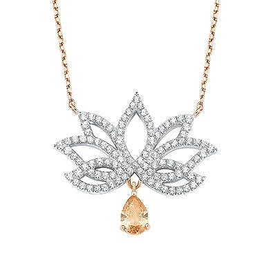 amor Damen-Kette 42+3cm mit Anhänger Lotusblüte Ornament 925 Sterling Silber  teil- 39a256d7ba