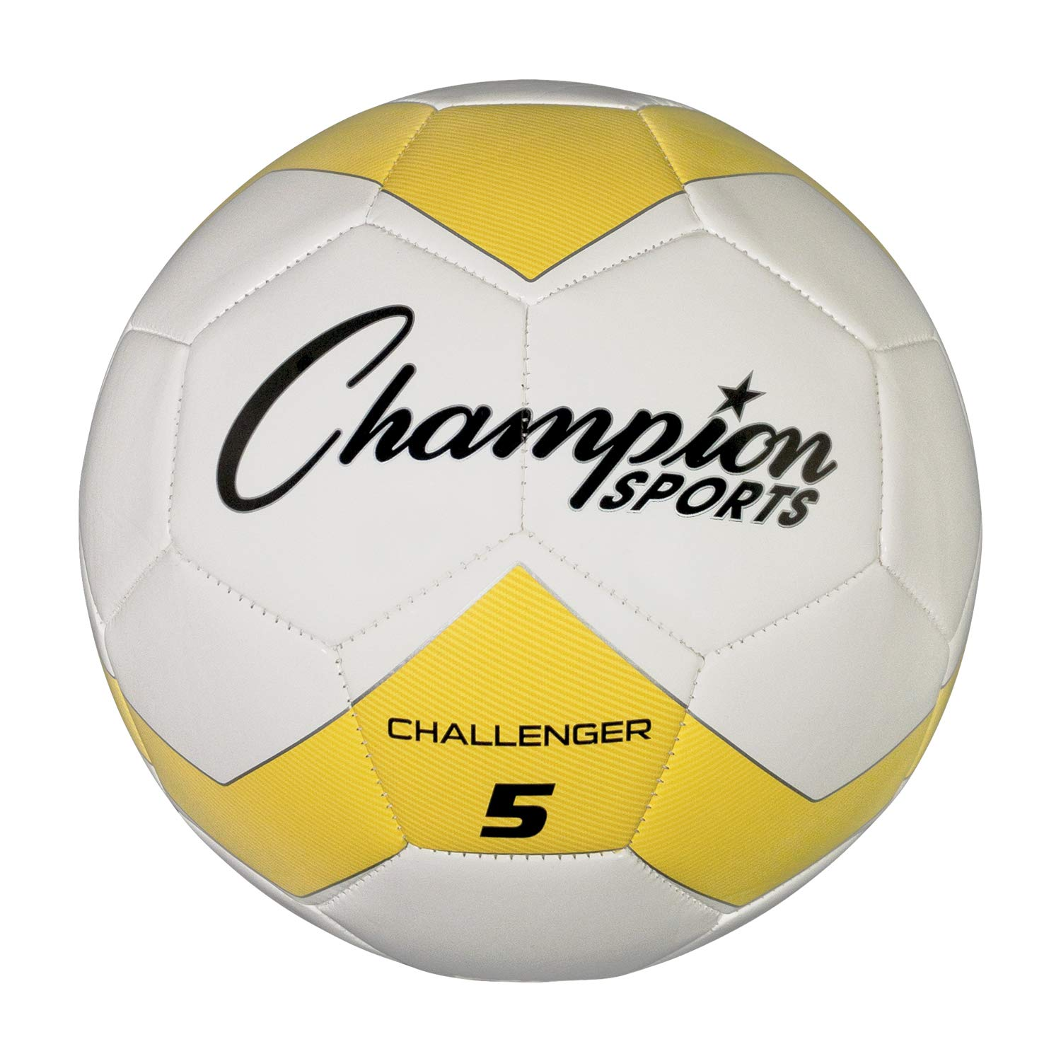 Size 3 Champion Sports Challenger Soccer Ball Black//White