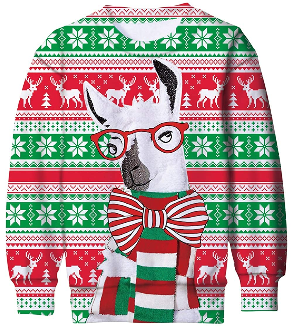 Ahegao Kids Ugly Christmas Sweatshirts Boys 3D Printed Crewneck Sweater Pullover for Girls 6-16T