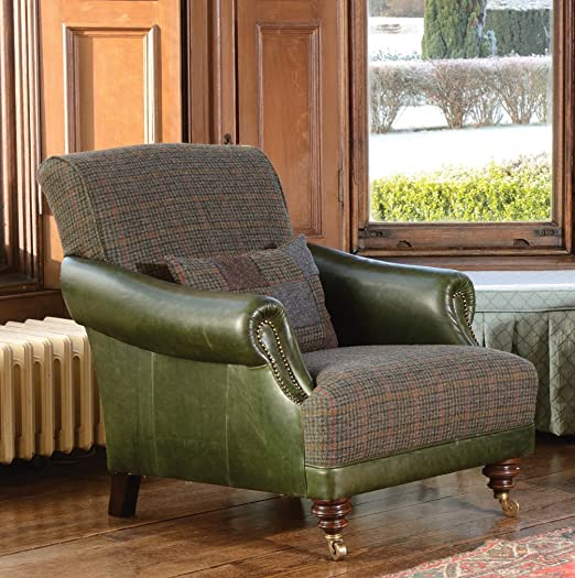 Tetrad Harris Tweed Taransay Damas sillón en Pata de Gallo ...