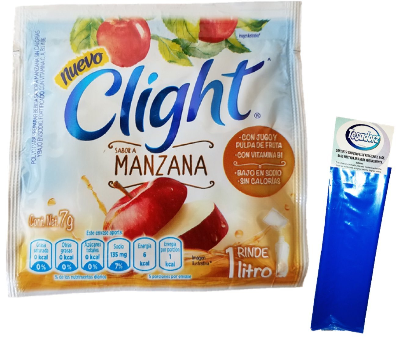 Amazon.com : Clight Horchata Powdered Drink Mix 1 Liter (Pack of 18) with Tesadorz Resealable Bags : Grocery & Gourmet Food