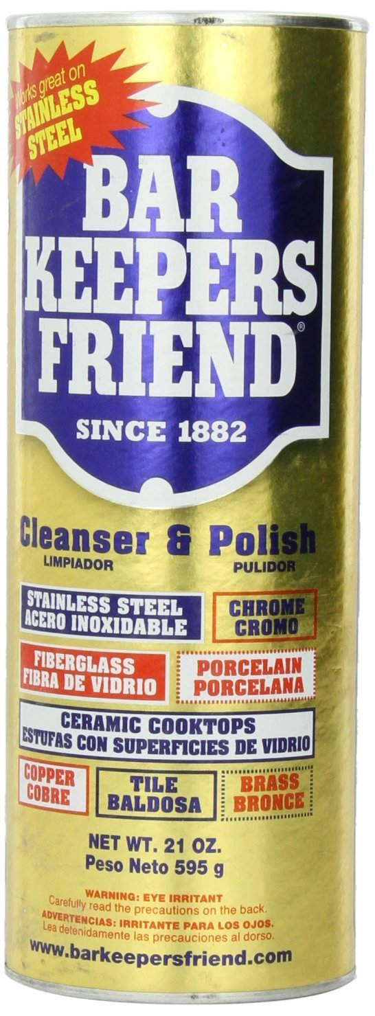 Amazon.com: Bar Keepers Friend Kitchen and Bath Cleaning Kit (21 Oz Cleanser & Polish Powder | 25.4 OZ Spray and Foam Cleaner | 3 Pck Casabella Scrub Sponge ...