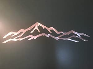 Utah Park City Ski Resort Metal Wall Art 3 Ft Silver Skiing Snowboarding Condo Cabin Decor