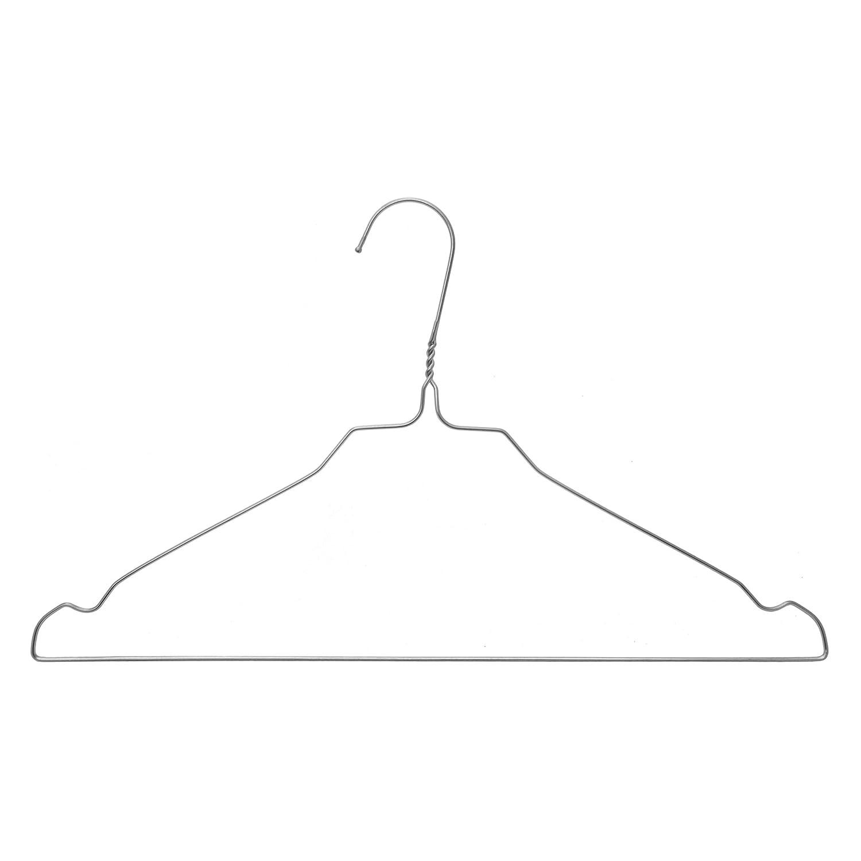 Kleiderbügel aus Draht - 100 Stück - Stahl verzinkt - Blusen und ...