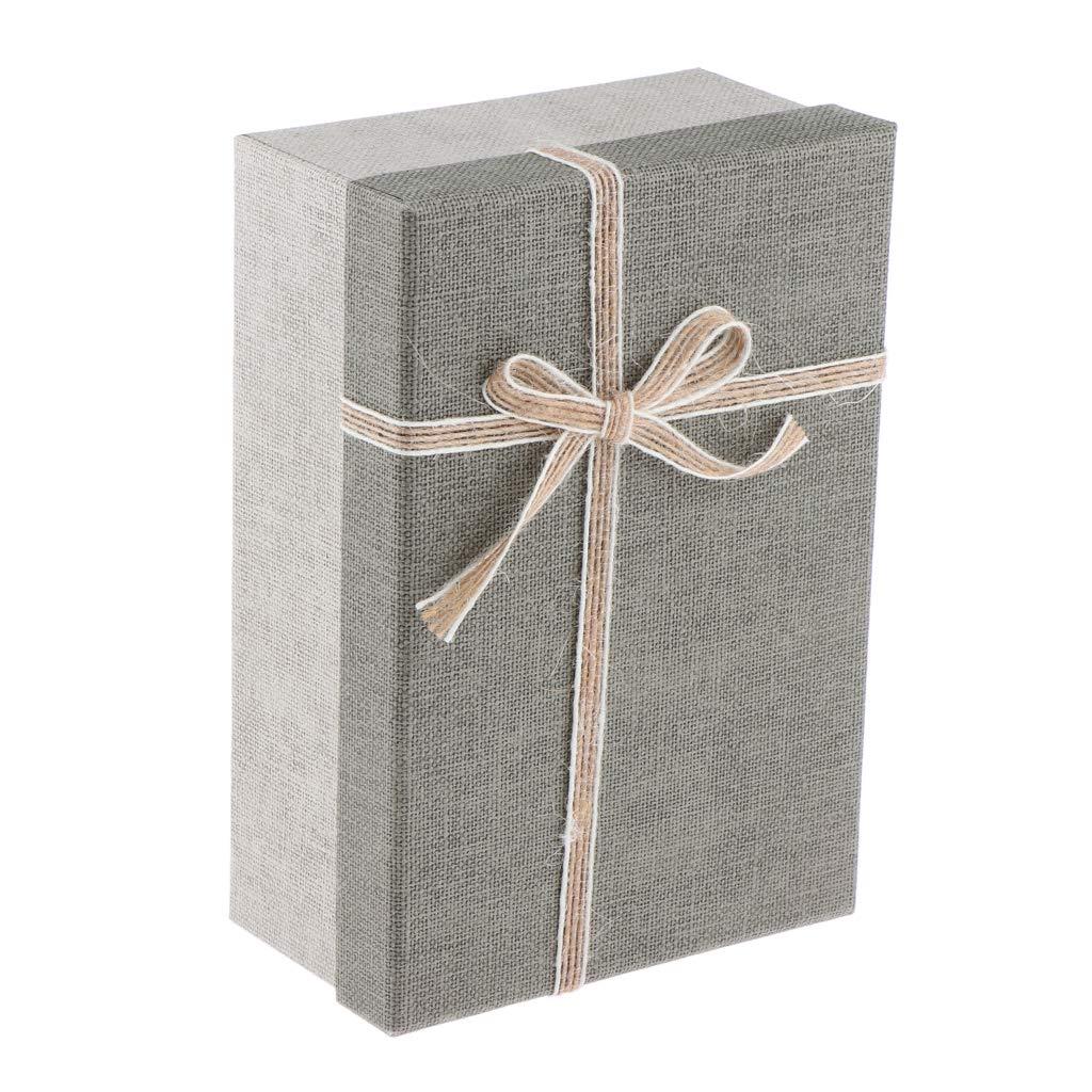 Gris clair Sharplace Boite Cadeau en Papier Etui Vide Pr/ésente Bijoux Cadeau avec Bowknot pour Emballage Cadeau Anniversaire La Saint-Valentin