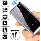 Aoile MP3 Player with Bluetooth 4.2, Portable Lossless Sound Metal HiFi Sport Music Player Speakers MP4 Media FM Radio Voice