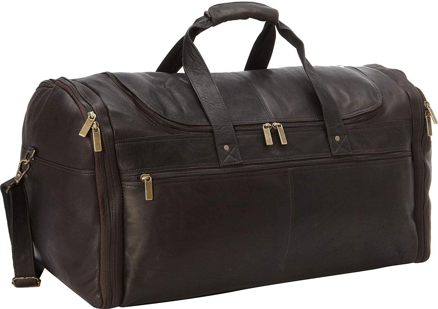 David King Leather Deluxe Duffel Bag in Cafe