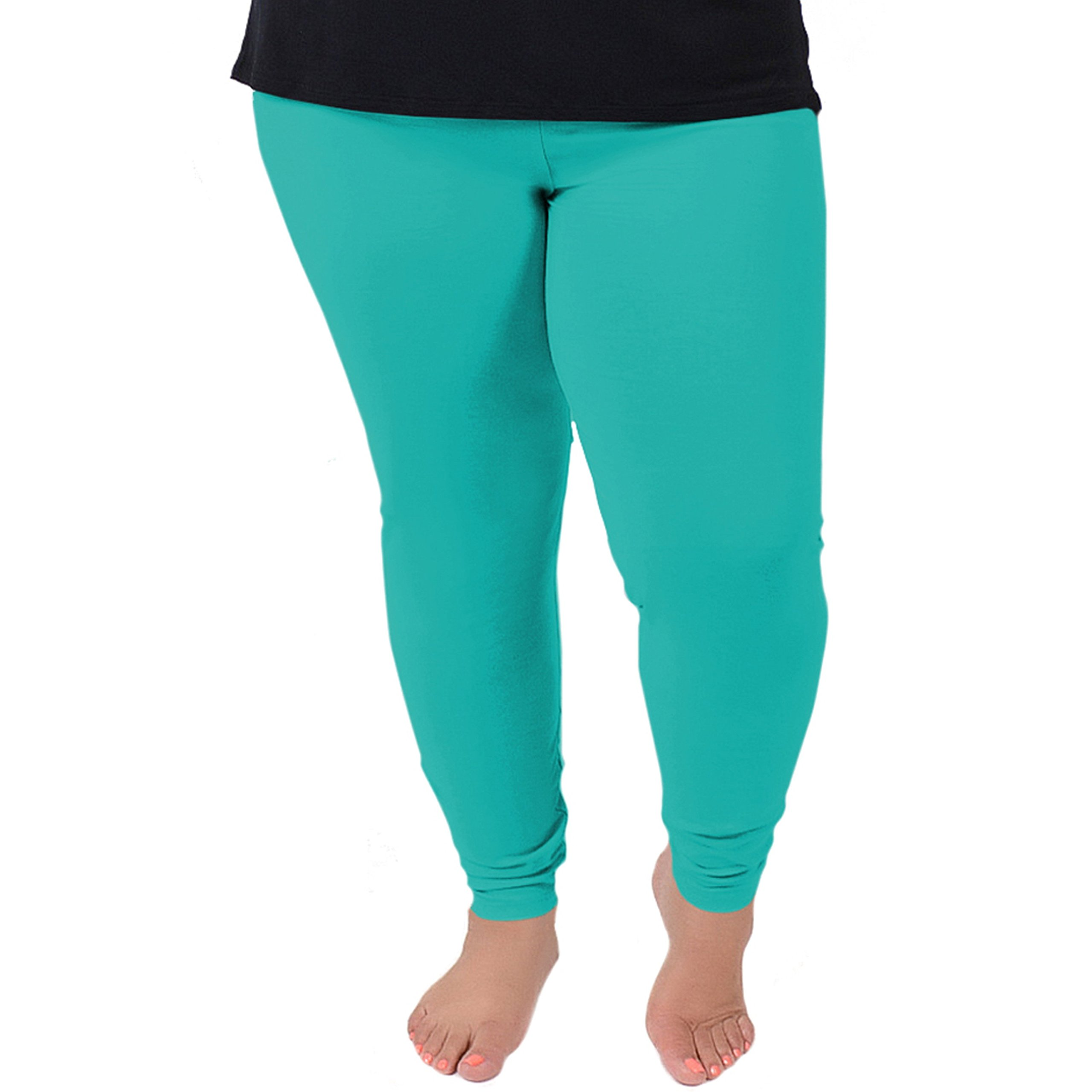 Stretch is Comfort Women's Plus Size Leggings Turquoise X-Large