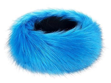 7d1fe9396b2 Futrzane Winter Faux Fur Headband for Women and Girls (Neon Blue)   Amazon.ca  Luggage   Bags