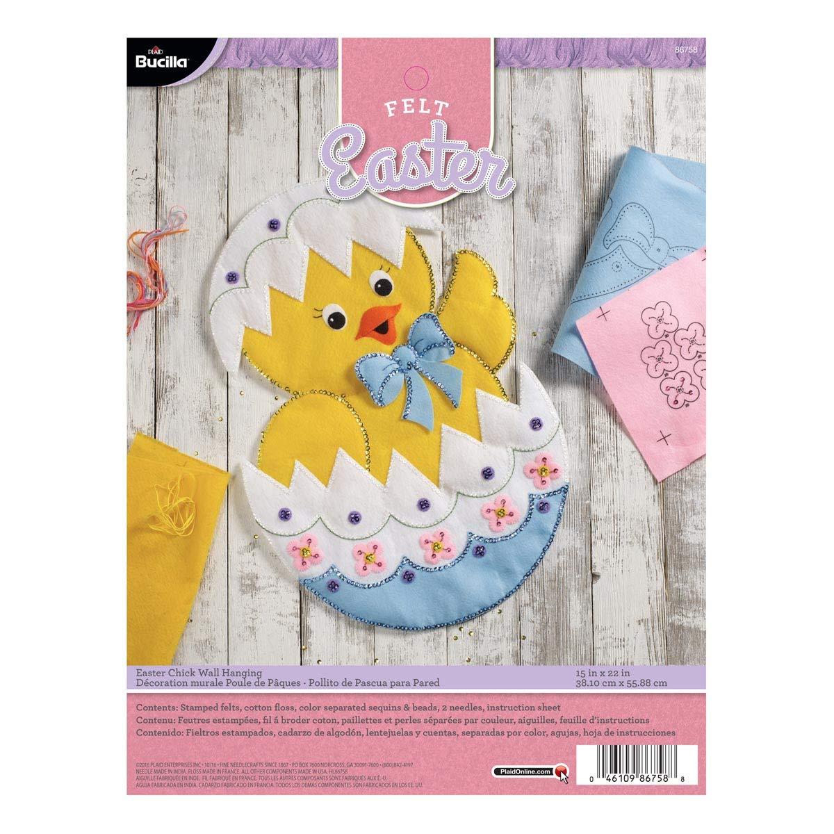 Bucilla 86758 Easter Chick Felt Applique Home Décor Kit