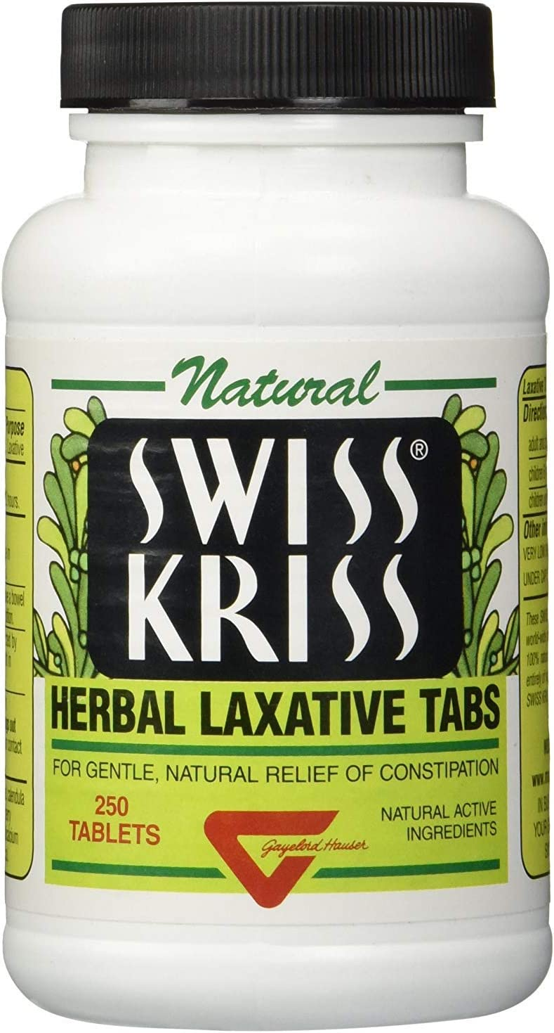 Swiss Kriss Herbal Laxative Tablets, 250 Count: Health & Personal Care