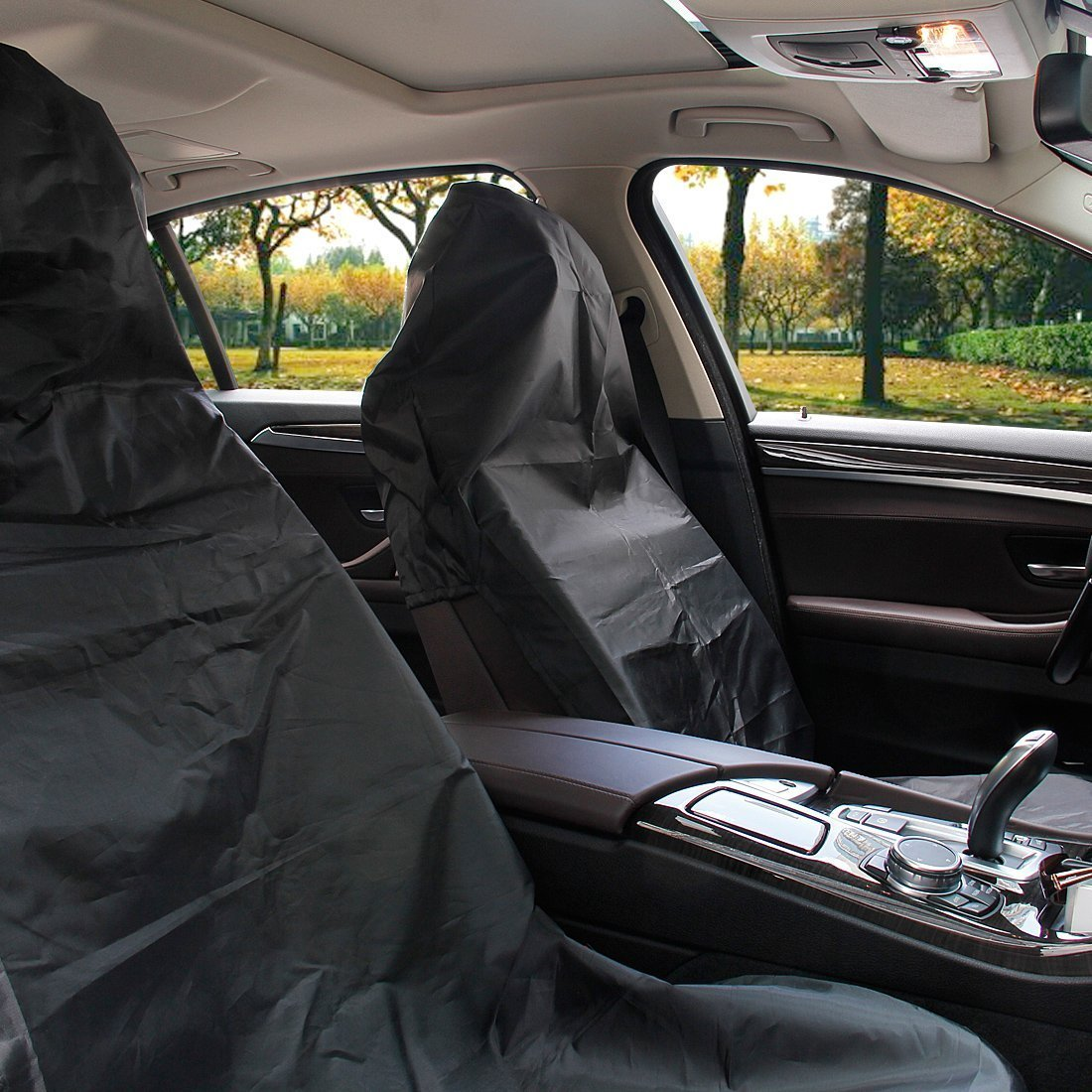One Black Tough Waterproof Car Seat Cover Wipe Clean Protector