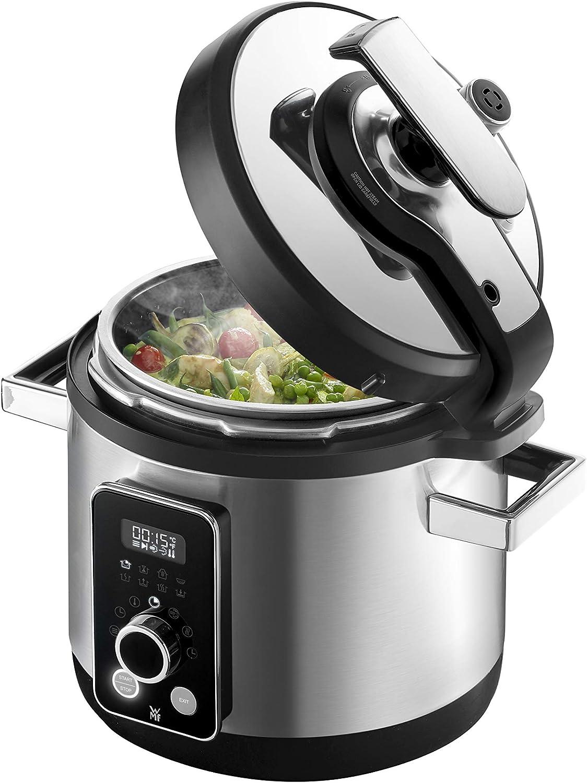 WMF Perfect Multifunctional Cooker Olla a Presión Eléctrica, Programable, 8 Programas, Cocción rápida y Lenta, Capacidad de 6 l, Incluye Recetario, 1100 W, Acero: Amazon.es: Hogar