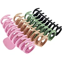 TOCESS Large Hair Claw Clips for Women and Girls Thin Hair, Strong Hold for Thick Hair, 4 Color Available (4 Packs)