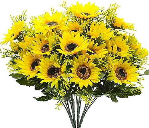 FLOR FALSA Flores Artificiales/Girasol Artificial Flores Arreglo ...