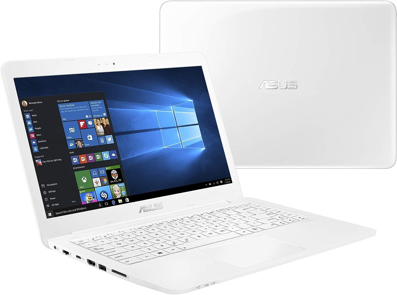"ASUS L402YA Thin & Light Laptop, 14"" FHD; AMD E2-7015 Quad Core Processor, AMD Radeon R2 Graphics, 4GB RAM, 64GB eMMC Storage, Windows 10 S with 1yr Office 365 Included, White, L402YA-ES22-WH"
