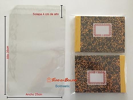 Bolsa de Polipropileno con Solapa Adhesiva de 25 x 35 cm ...