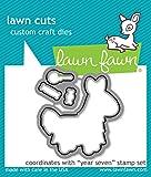 Lawn Fawn Pinata Clear Stamp & Die Set - Year Seven - 2 Item Bundle