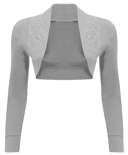 Diseño de llew mejia Clothing algodón B65 -100% de cuentas con diseño de lentejuelas y de manga larg...