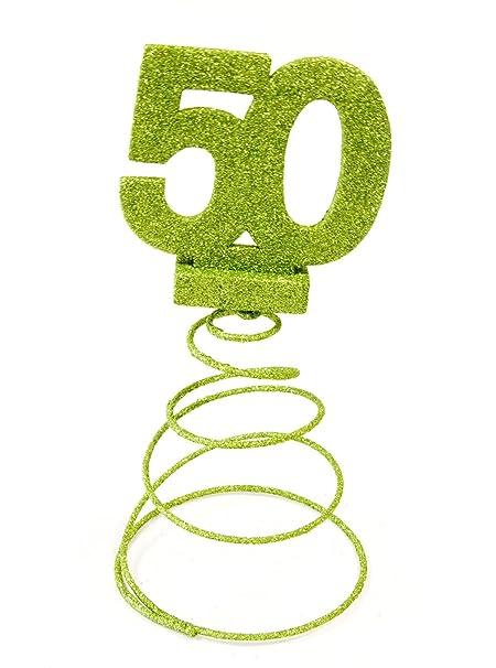 Visiodirect Lote DE 10 Centros de Mesa para Cumpleaños 50 ...