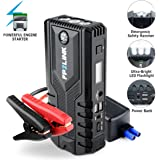 Car Jump Starter with Lithium Battery Booster for 12V Vehicle,Up to 8.4L Gas, 5.5L Diesel Engine,Built-in Safety Hammer,Red Blue Ultra-Bright LED Flashlight and 12000mAh Power Bank by FP2LINK