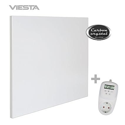 VIESTA H400 Panel Radiador de Infrarrojos Carbon Crystal (última tecnología) Calefacción ultradelgado Blanco de