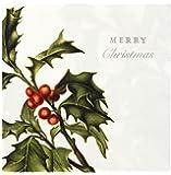 Talking Tables Accessori da tavola, cavoletti natalizi tovaglioli usa e getta, Carta, White, 33 cm