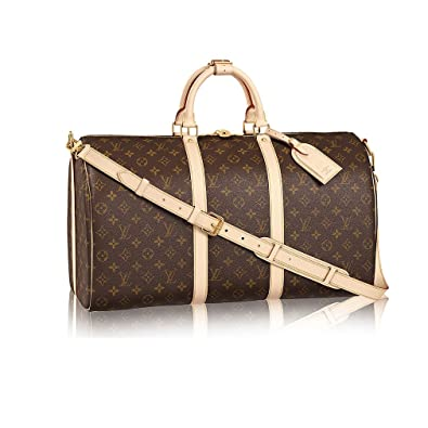 89d60e166 Amazon.com: Louis Vuitton Monogram Canvas Cross Body Handle Keepall  Bandoulière 50 Made in France: Shoes