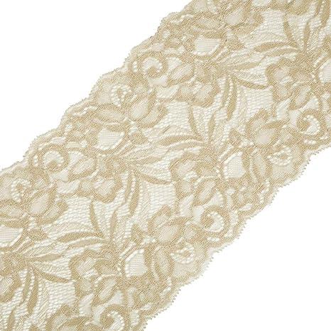 Yalulu 15 cm larghezza elasticizzato elasticità pizzo nastro tessuto DIY  accessori di abbigliamento. Cucitura decorazione 4cfd4beb77e