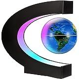 Gresus Magnetic Levitation Floating World Map Globe with C Shape Base, Floating Globe with LED Lights, Great Fathers Students
