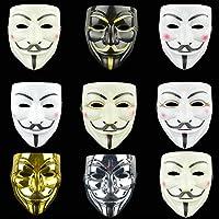 Anonymous Hacker V for Vendetta Guy FAIGES Fancy Dress Halloween FACE MASK AU