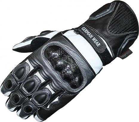 German Wear Motorradhandschuhe Motorrad Biker Handschue Lederhandschuhe In 3x Farben Größe 10 Xl Farbe Grau Auto