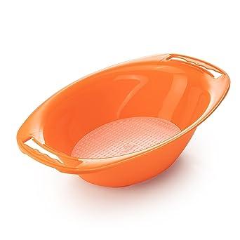 Bandeja de recuperación ovalado con chino para el verduras V5 PowerLine de Börner (naranja)