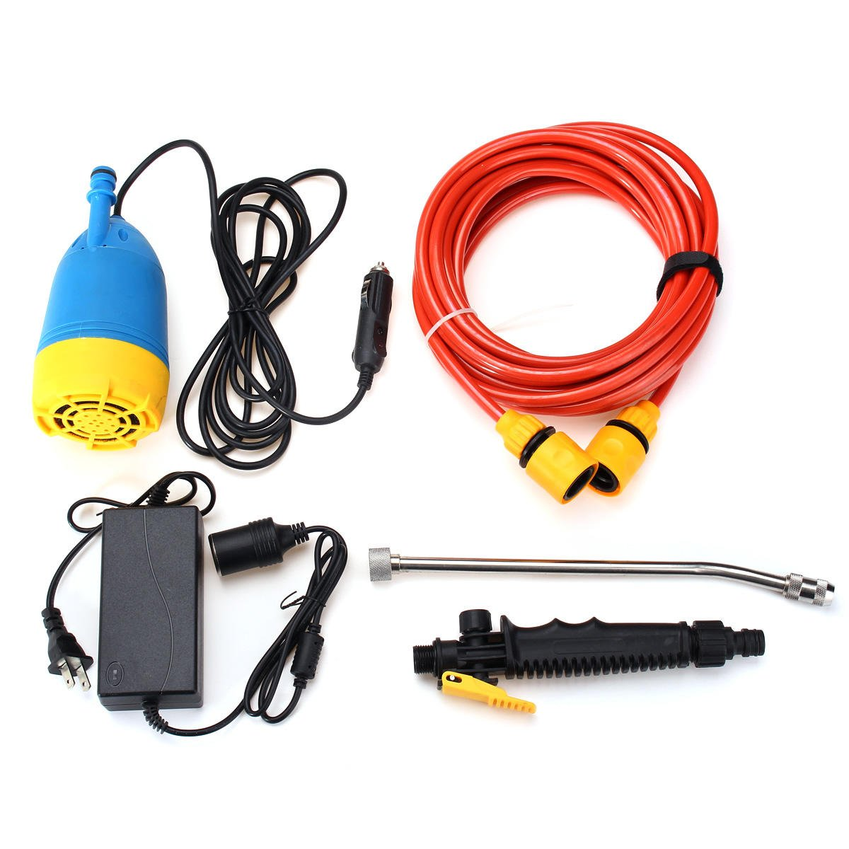 12V 80W High Pressure Car Washer Kit Water Wash Pump Car Campervan Sprayer Suit by Theoriginalstyle Automobiles (Image #1)