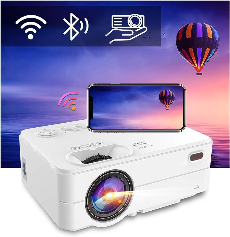 Mini WiFi Bluetooth Projector - Artlii Enjoy 2 Phone Projector Support Full HD 1080P and 300'' Display, 6000L Brightness