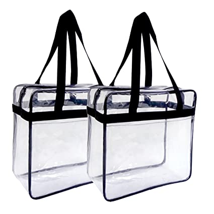 ab0c2ede66cb Image Unavailable. Image not available for. Color  2 PACK Bulk Clear Bag  Transparent Tote NFL ...