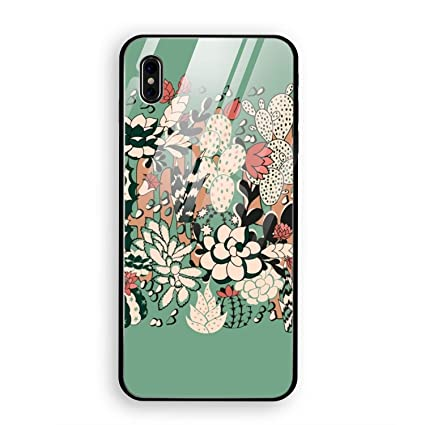 finest selection c5472 70ef4 Amazon.com: iPhone X Case,Cactus and Succulent Full Body Protection ...