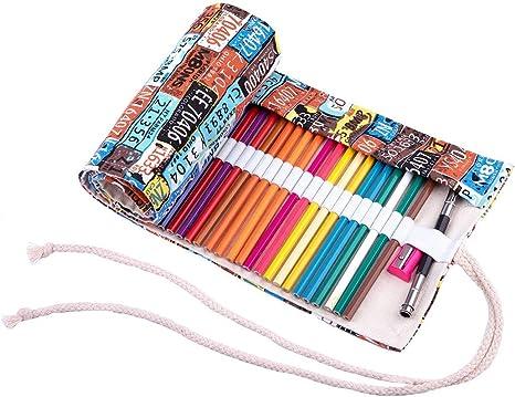 AK.SSI Creative National Wind - Estuche de tela para lápices (sin bolígrafo), color Polychromatic J 72: Amazon.es: Oficina y papelería