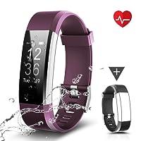CHEREEKI Fitness Tracker, LATEC Moniteur de Fréquence Cardiaque Activité Tracker étanche IP67 0,96'' écran Tactile, Smart Bracelet Sport Brecelet Podomètre Smartwatch