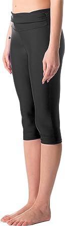 Amazon Com Keeprone Pantalones De Natacion Para Mujer Upf 50 De Talle Alto Pantalones Largos De Natacion Clothing