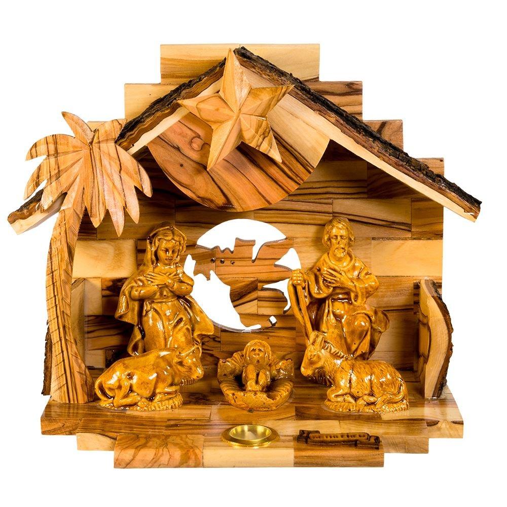 Kurt Adler Double Extra Large Olive Wood Nativity Music Box Home Accessories by Kurt Adler (Image #4)