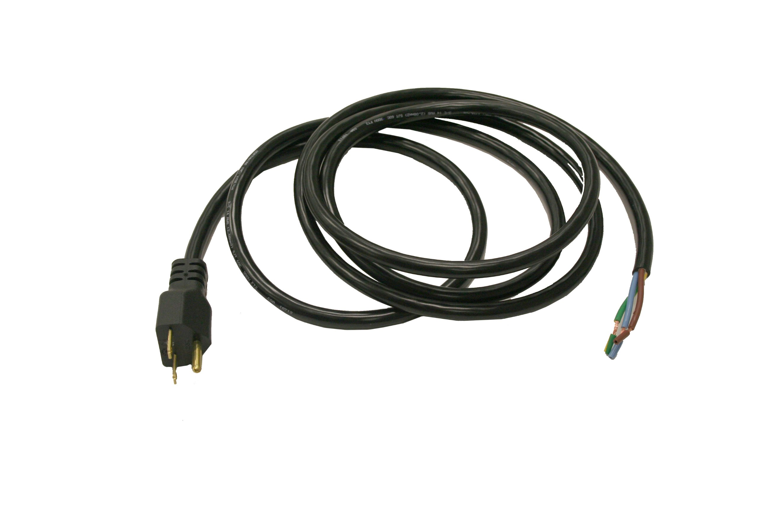 Interpower 86224570 North American NEMA 6-15, Power Cord, NEMA 6-15 Plug Type, Black Plug Color, Black Cable Color, 15A Amperage, 250VAC Voltage, 2.5m Length
