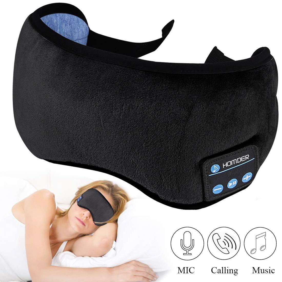 Sleep Headphones Bluetooth 5.0 Wireless Eye Mask - Homder Headphones Travel Sleeping Headband Built-in Speakers Microphone Handsfree Adjustable Washable (Grey) sleepbuds - 71K517qjDUL - Sleepbuds – Review on sleep noise masking sleepbuds