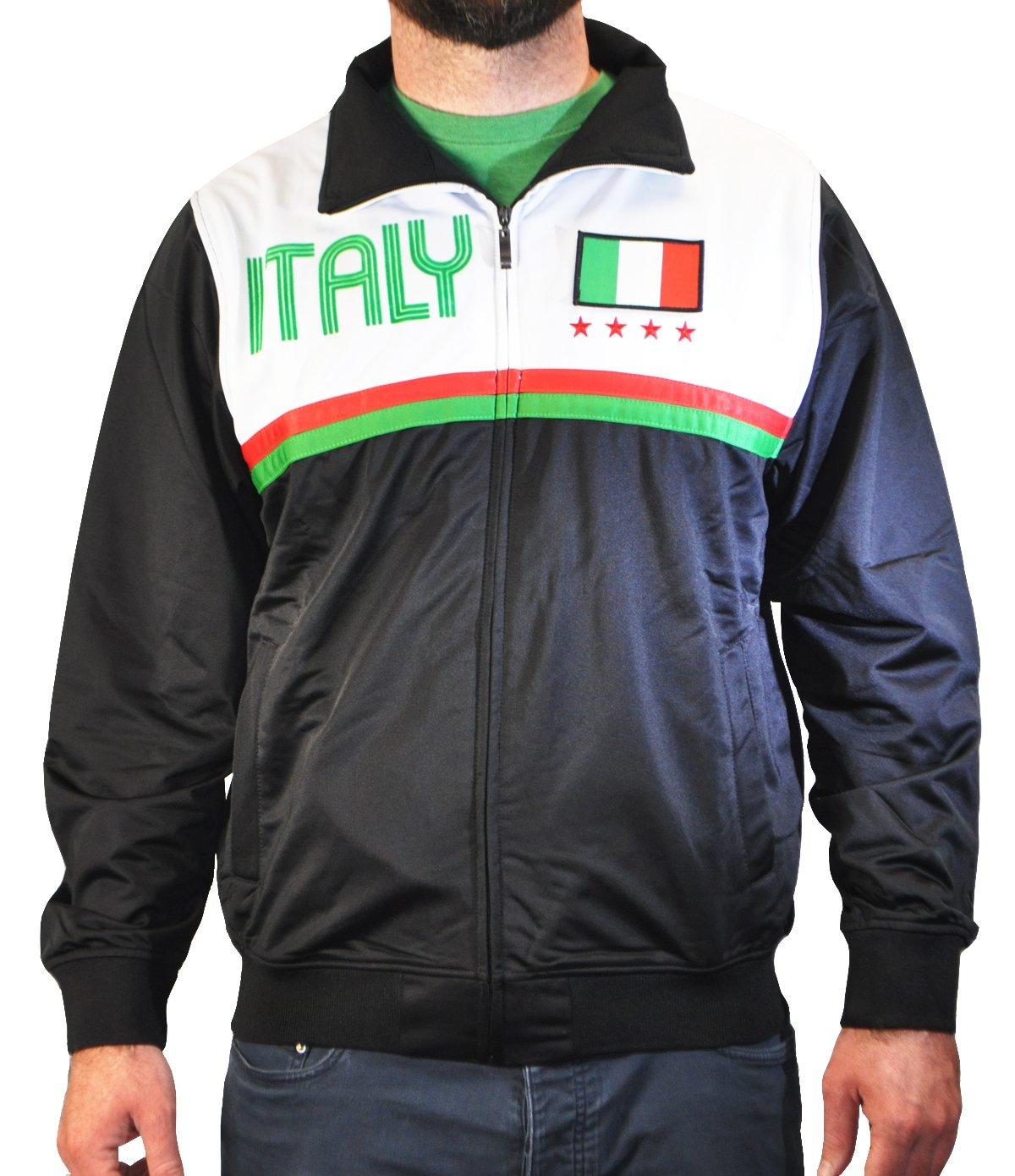 Amdesco Men's Italy Italian Pride Sport Track Jacket, Large