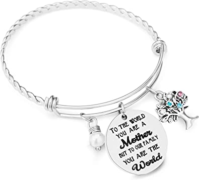 Worlds Greatest Mother Ever Mothers Bracelet in Stainless Steel Gift for Mom The Love Between a Mother and Daughter