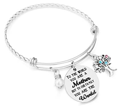 59d1803bff35e ELOI Family Tree Necklace with Birthstone Stainless Steel Pendant for Mom  Grandmother