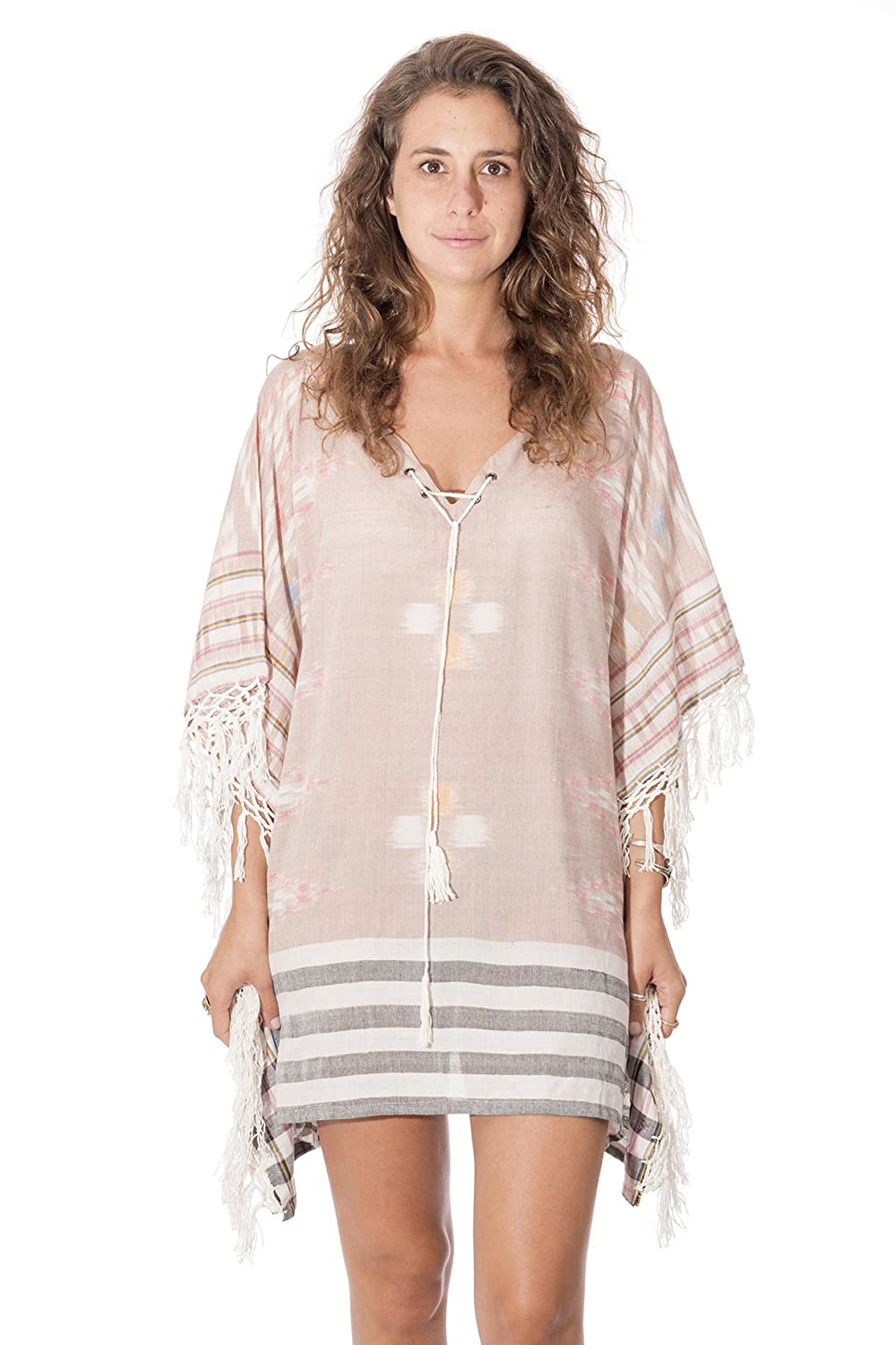 69ff8f029dcd8 Hand made, top quality women\'s fashion caftan. The ikat fabric makes it a  very versatile, bohemian inspired caftan / cover up